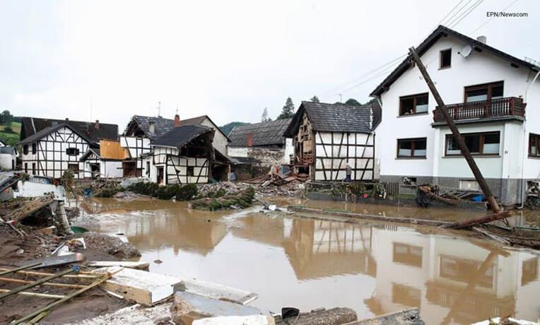 서유럽 기록적인 폭우로 인한 대홍수